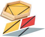 Gekleurde-constructie-driehoeken-in-6-hoekig-kistje