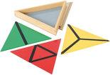 Gekleurde-constructie-driehoeken-in-3-hoekig-kistje