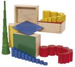 Gekleurde-cilinderblokken