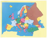 Puzzelkaart-Europa