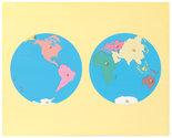 Puzzelkaart-Werelddelen