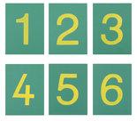Schuurpapieren-Cijfers-Cursief