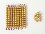 Gouden-materiaal-onderdelen-9-staafjes-van-tien-en-10-losse-kralen-Losse-kunststof-kralen