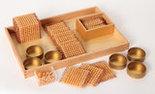 Gouden-materiaal-onderdelen-100-losse-kralen-in-kunststof-bakje-Losse-kunststof-kralen